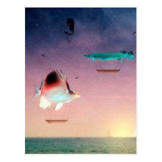 Fish Swim Best Between Night and Day Postcard
