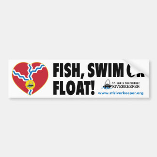 Fish, Swim or Float Bumper Sticker