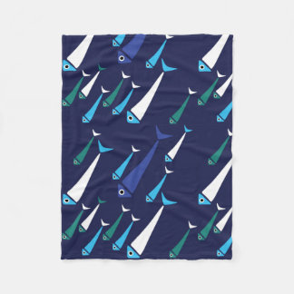 Fish swimming in the see fleece blanket