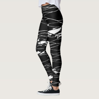 Fish Swimming Underwater Black Leggings