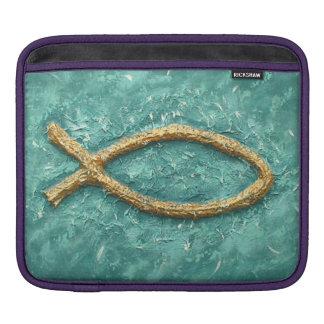 Fish symbol of early Christians iPad Sleeve