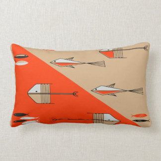 FISH TALE 2 American Mojo Pillow PERSIMMON-SAND
