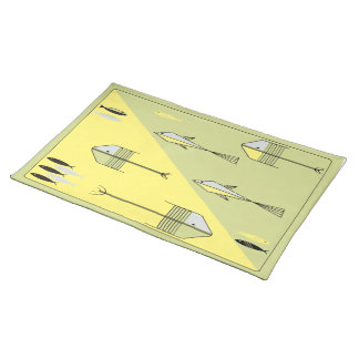 FISH TALE American MoJo Placemat LEMON-CHARTREUSE Cloth Placemat