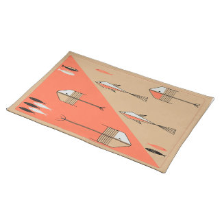 FISH TALE American MoJo Placemat PERSIMMON-SAND