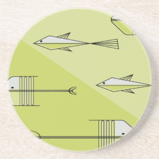 FISH TALE Coaster 4 5 CHARTREUSE