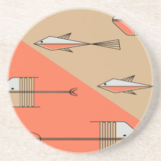 FISH TALE Coaster 4 5 CORAL-SAND