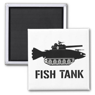 Fish Tank Square Magnet