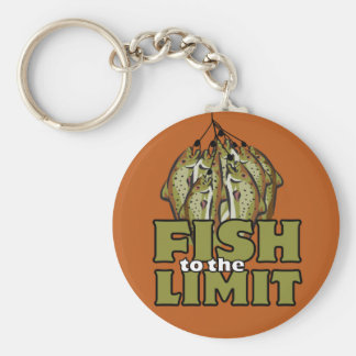 Fish to the Limit Basic Round Button Key Ring