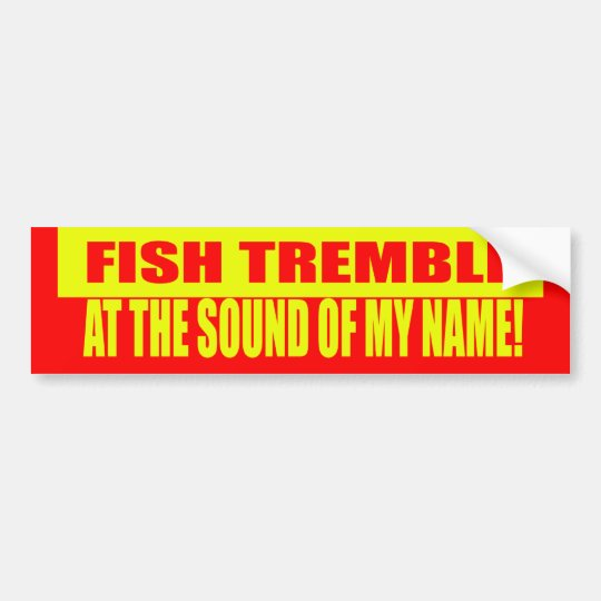Fish Tremble Bumper Sticker