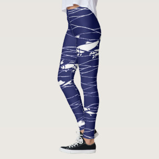 Fish Underwater Ocean Blue Leggings