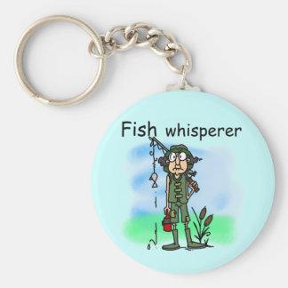 Fish Whisperer Basic Round Button Key Ring