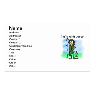 Fish Whisperer Double-Sided Standard Business Cards (Pack Of 100)