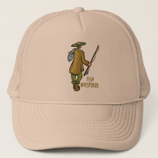 Fish Whisperer Fishing Trucker Hat