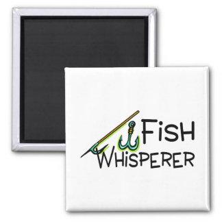 Fish Whisperer Square Magnet