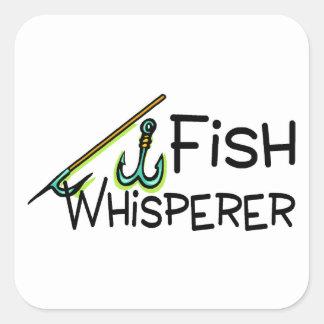 Fish Whisperer Square Stickers
