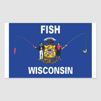Fish Wisconsin Rectangular Sticker