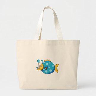 Fish With Balloon Jumbo Tote Bag