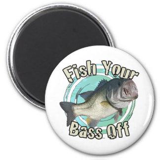 Fish your bass off fridge magnets