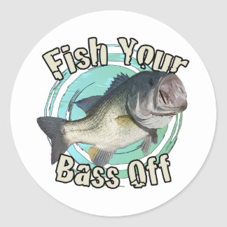 Fish your bass off sticker
