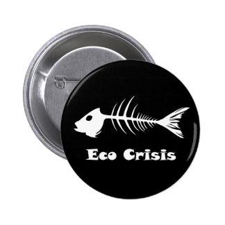 Fishbone Eco Crisis Dark Button