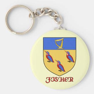 Fisher Family Shield Keychain