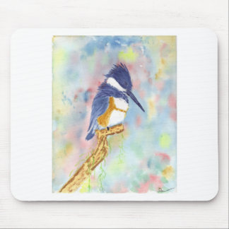Fisher King, Kingfisher watercolor Mouse Pad