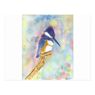 Fisher King, Kingfisher watercolor Postcard