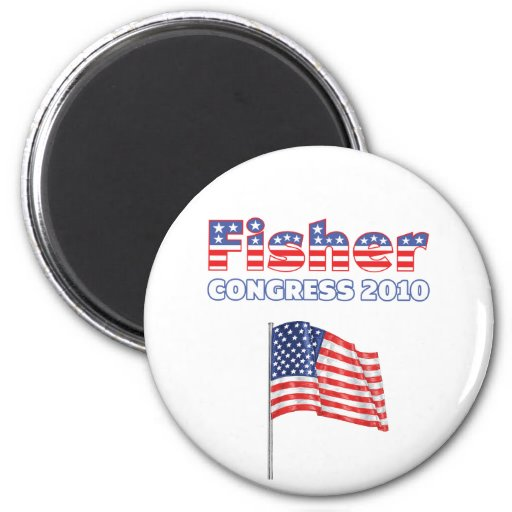 Fisher Patriotic American Flag 2010 Elections Fridge Magnets