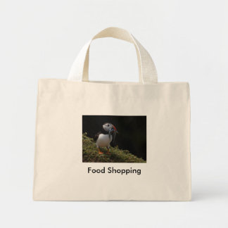 Fisher Puffin, Food Shopping Mini Tote Bag