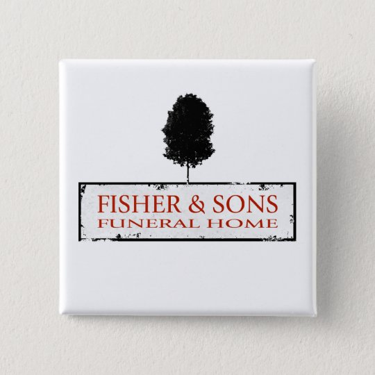 Fisher & Sons Funeral Home 15 Cm Square Badge