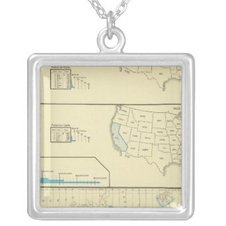 Fisheries and whaling grounds silver plated necklace