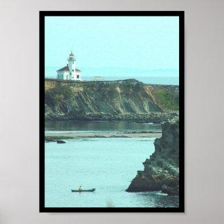 Fisherman and Lighthouse Print