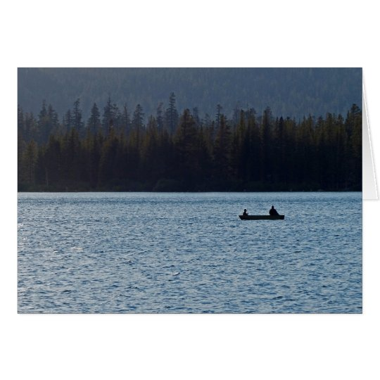 Fisherman and Son, Blank Greeting Card