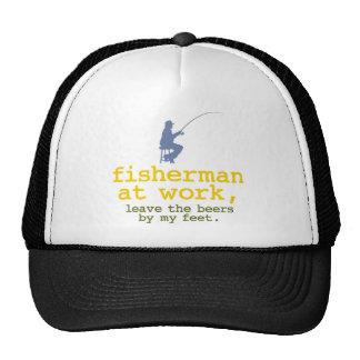 Fisherman At Work Mesh Hat