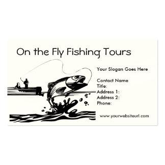 Fisherman Fishing on Lake Business Card Template