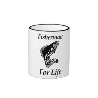 Fisherman For Life Ringer Mug