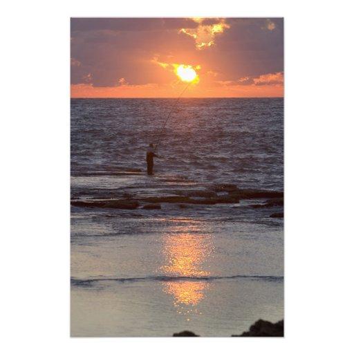 Fisherman in Byblos at sunset, Lebanon Art Photo