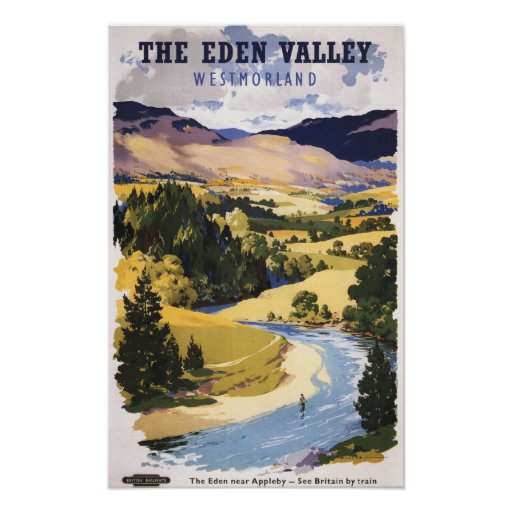 Fisherman in the Eden Valley Print