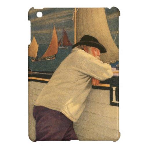 Fisherman Joseph Southall Sailboat Nautical Ocean iPad Mini Covers