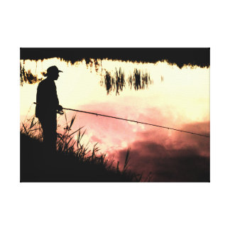 Fisherman nature beautiful scenery gallery wrapped canvas
