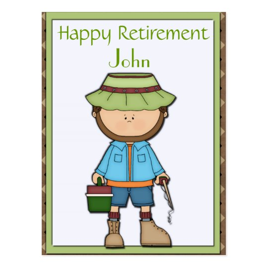 Fisherman Retirement Postcard