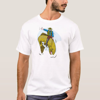 fisherman riding trout T-Shirt