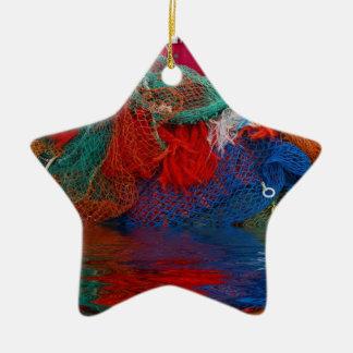 Fisherman's nets ceramic star decoration