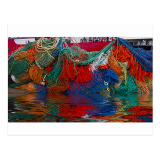 Fisherman's nets postcard