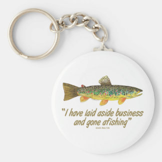 Fisherman Saying Basic Round Button Key Ring