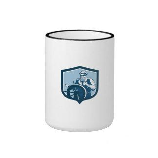 Fisherman Sea Captain Shield Retro Coffee Mug