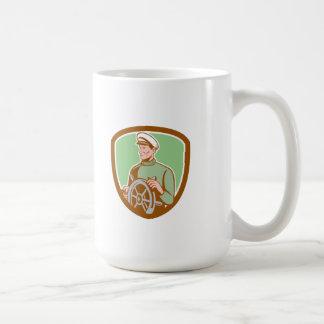 Fisherman Sea Captain Wheel Shield Retro Coffee Mugs
