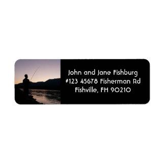 Fisherman Silhouette Fishing at Sundown