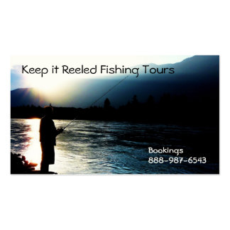 Fisherman Silhouette Fishing Guides Biz Double-Sided Standard Business Cards (Pack Of 100)