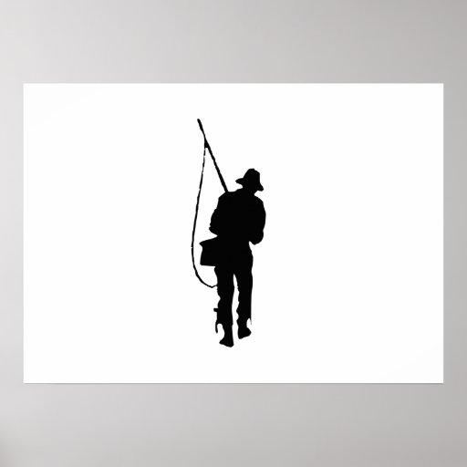 Fisherman Silhouette Print